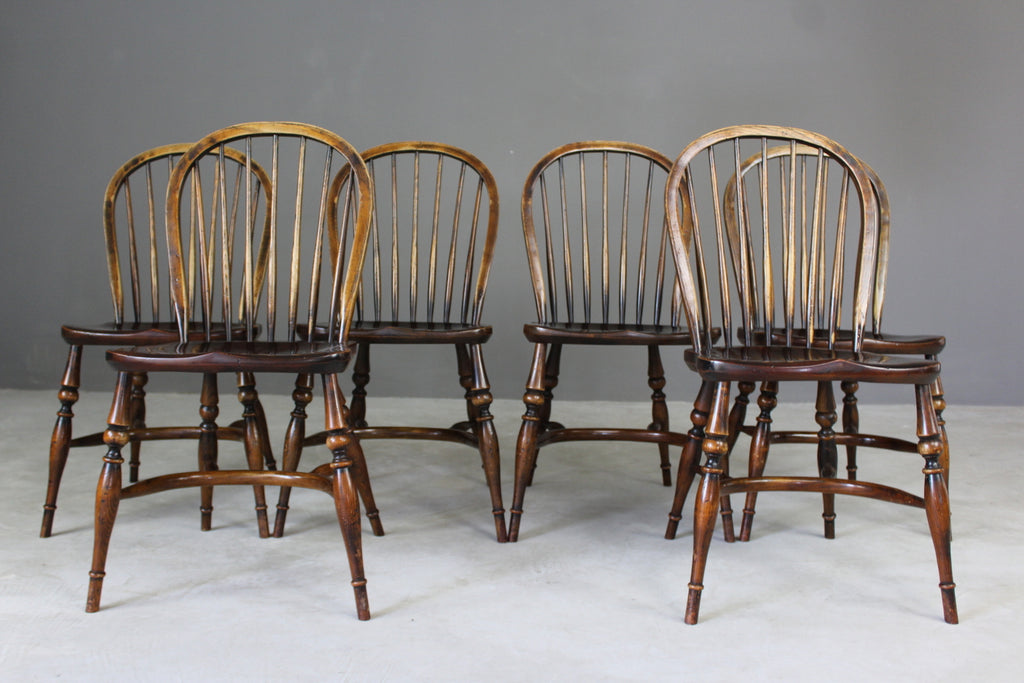 Batheaston Hoop & Stick Back Dining Chairs - vintage retro and antique furniture