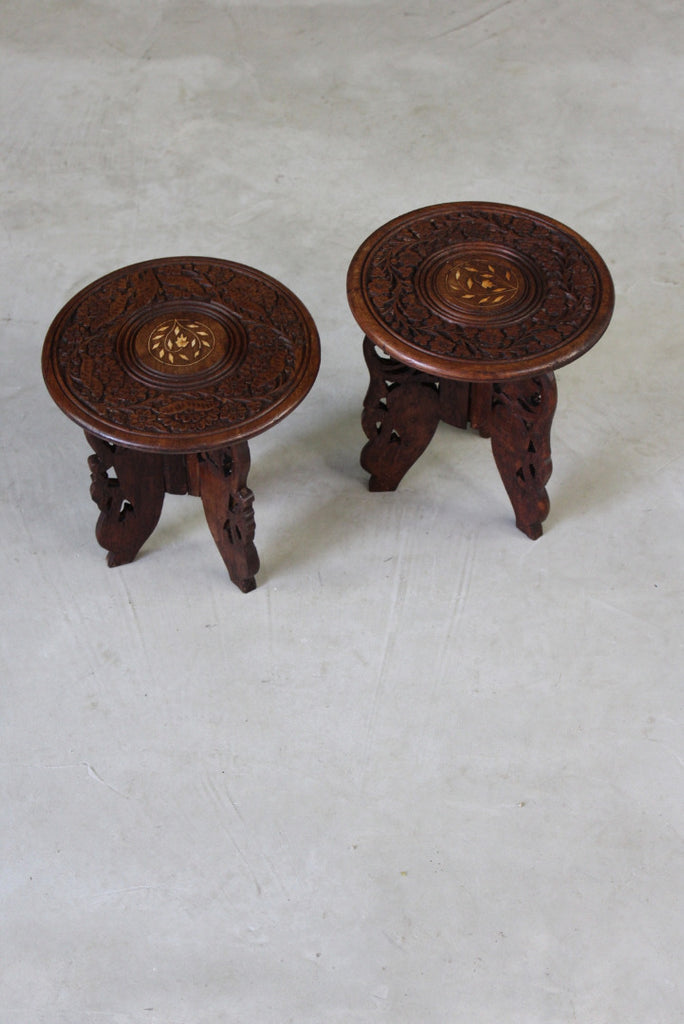 Pair Small Eastern Tables - Kernow Furniture