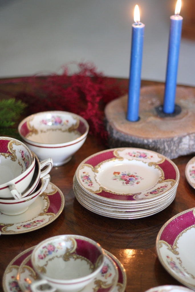 Myotts Royal Crown Bouquet Tea Service - Kernow Furniture