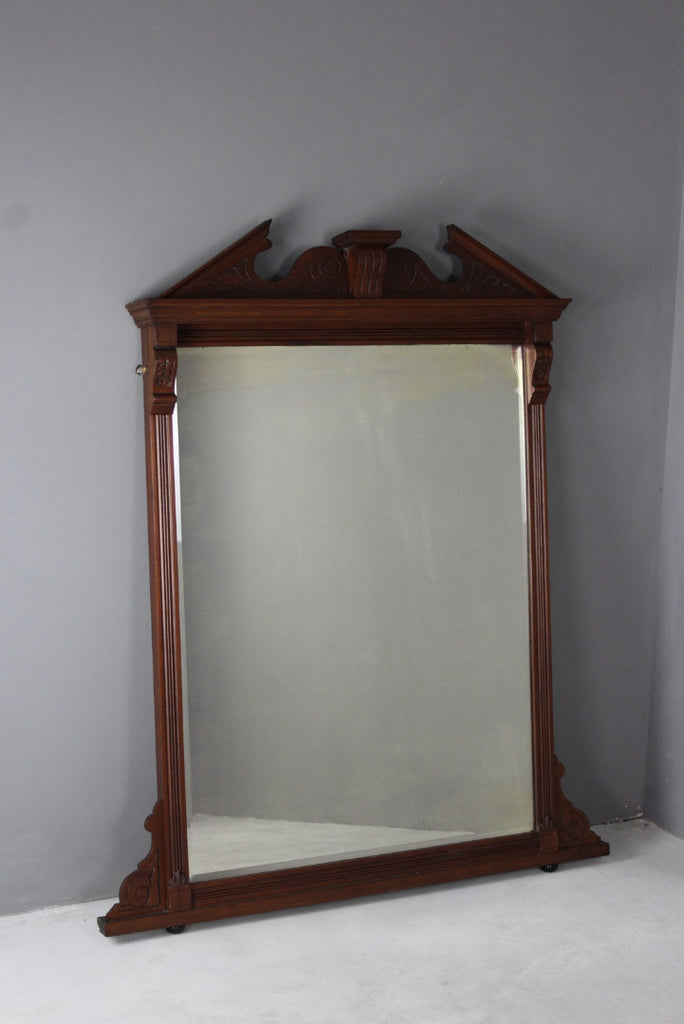 Large Antique Mahogany Mirror