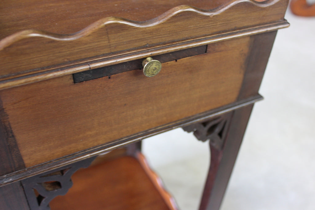 Small Mahogany Side Table - Kernow Furniture