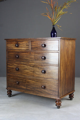Antique Mahogany Chest of Drawers - vintage retro and antique furniture