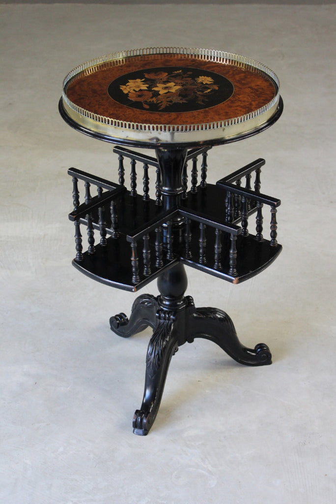 Victorian Ebonised Side Table - Kernow Furniture