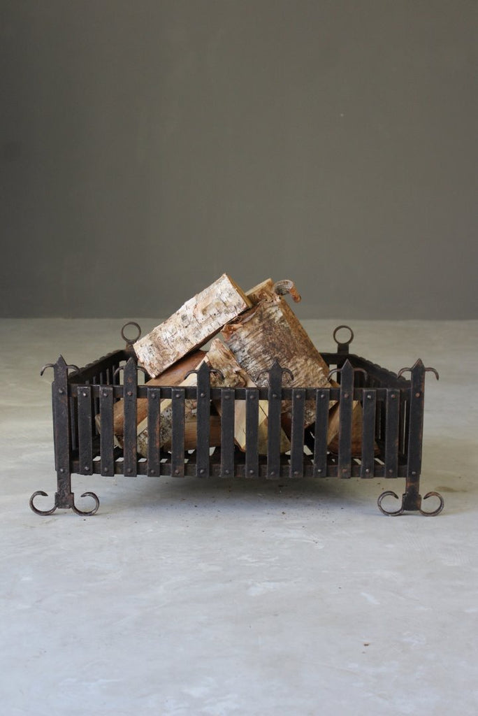 Wrought Iron Fire Basket - Kernow Furniture