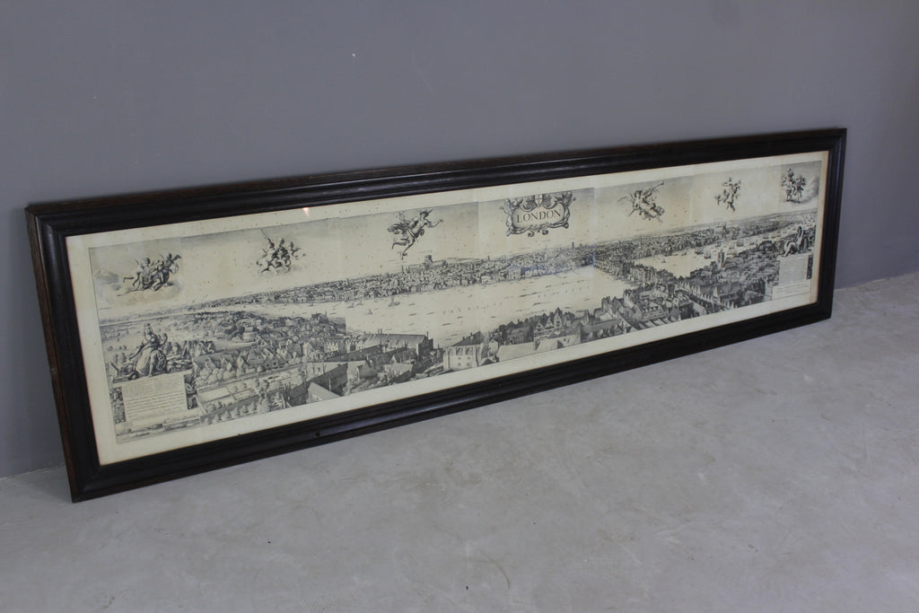 Huge Wenceslaus Hollar Framed London Print - Kernow Furniture