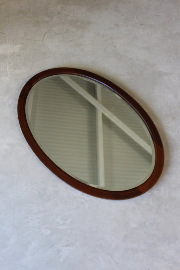 Antique Edwardian Oval Mirror - vintage retro and antique furniture