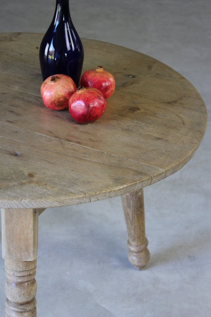 Antique Pine Cricket Table - Kernow Furniture