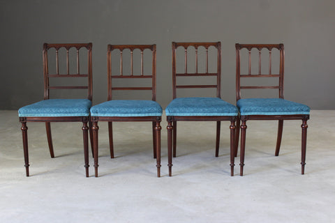 4 Morison & Co Mahogany Side Chairs - vintage retro and antique furniture