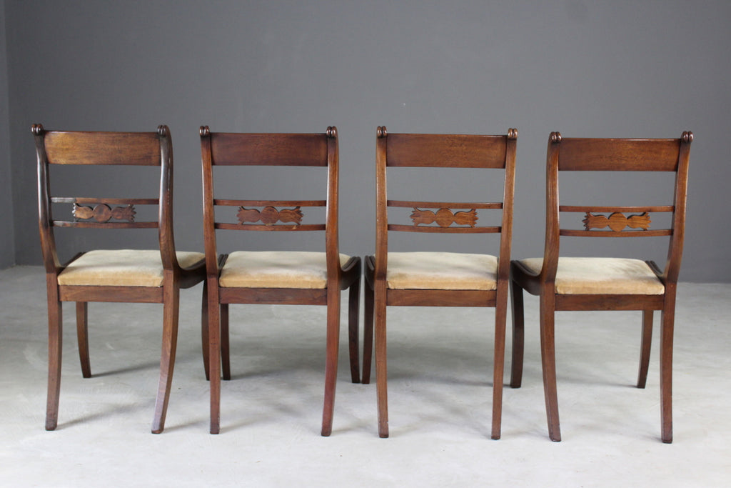 19th Century Mahogany Dining Chairs - Kernow Furniture