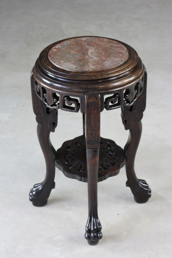 Antique Chinese Plant Stand - vintage retro and antique furniture