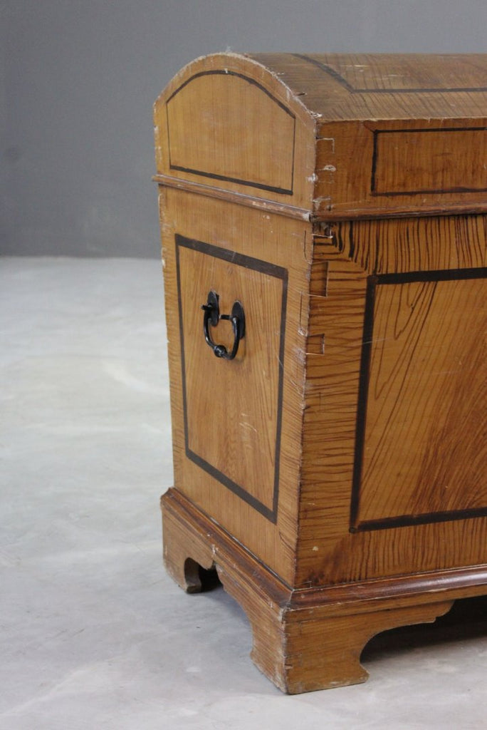 Painted Pine Effect Dome Top Trunk - Kernow Furniture