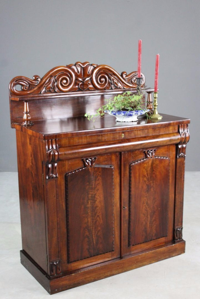 Antique Mahogany Chiffonier - vintage retro and antique furniture
