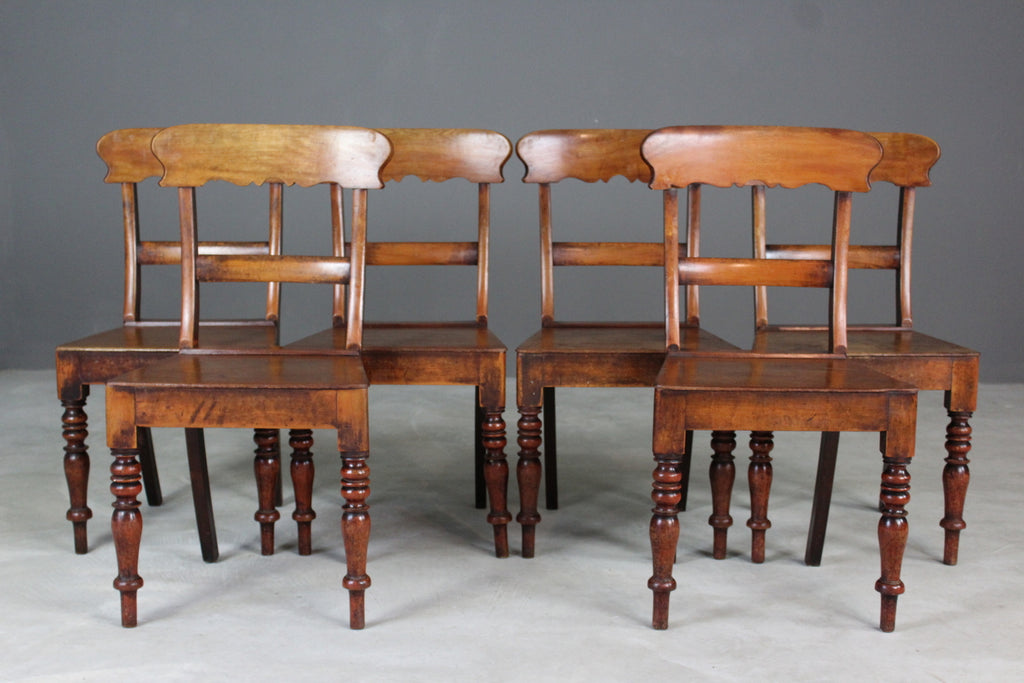 Set 6 Antique Bar Back Chairs