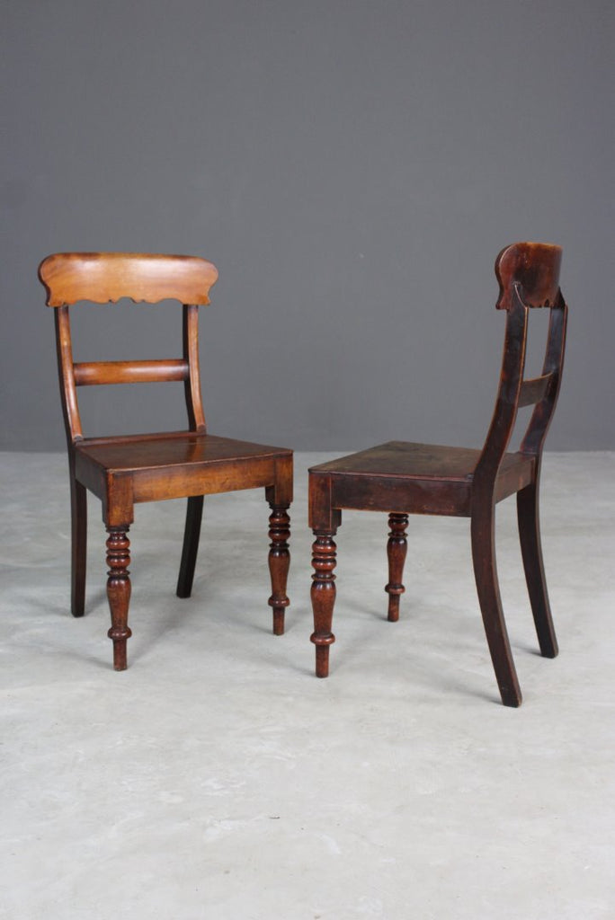 Set 6 Antique Bar Back Chairs - Kernow Furniture