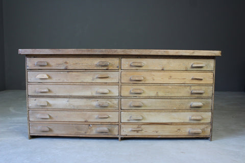 Pine Plan Chest of Drawers