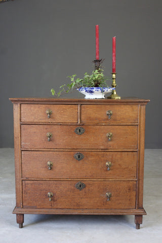 17th Century Style Oak Chest of Drawers