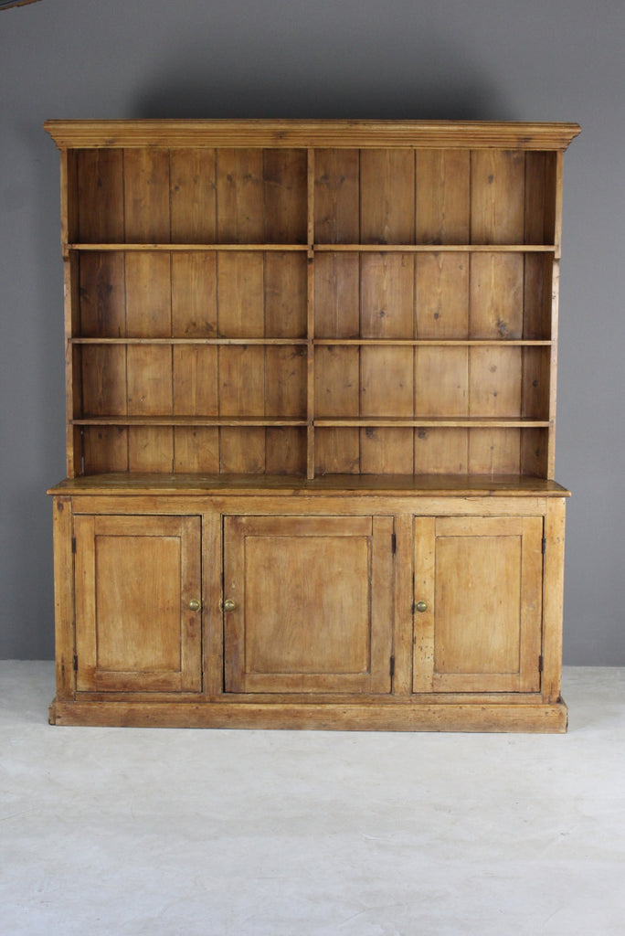 Antique Rustic Pine Dresser - vintage retro and antique furniture