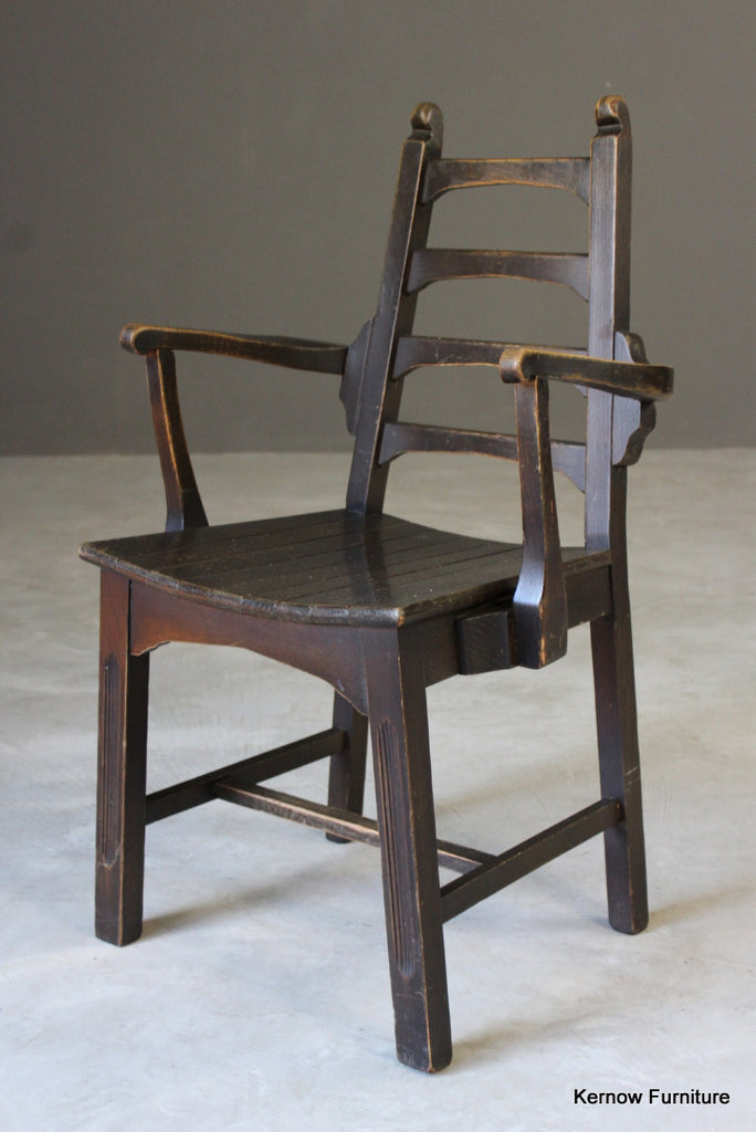 Single Ladderback Carver Chair - Kernow Furniture