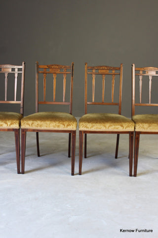 Edwardian Inlaid Rosewood Occasional Chairs
