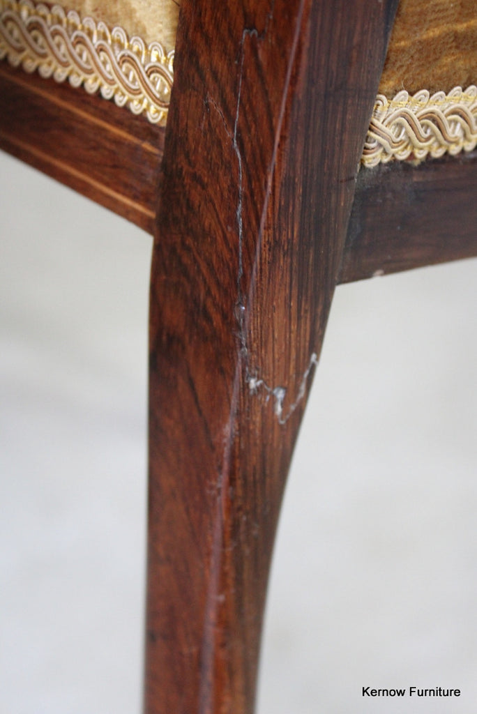 Edwardian Inlaid Rosewood Occasional Chairs - Kernow Furniture