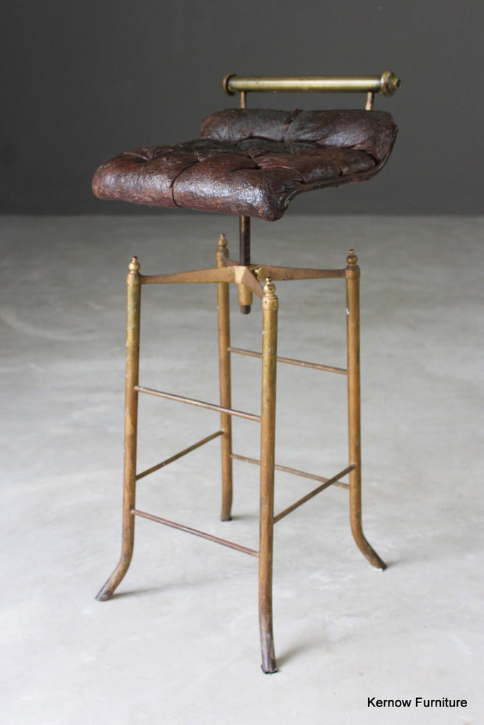 Leather Adjustable Music Stool