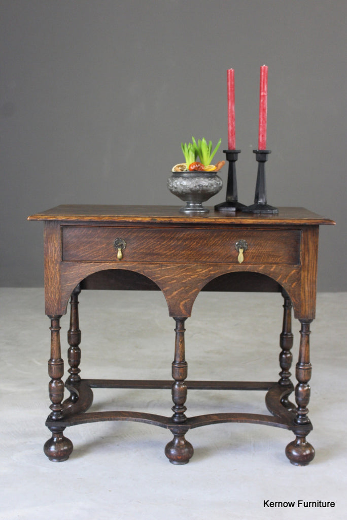 Queen Anne Style Oak Side Table