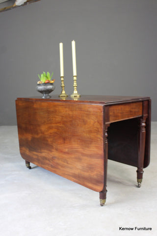 Antique Mahogany Drop Leaf Table - vintage retro and antique furniture