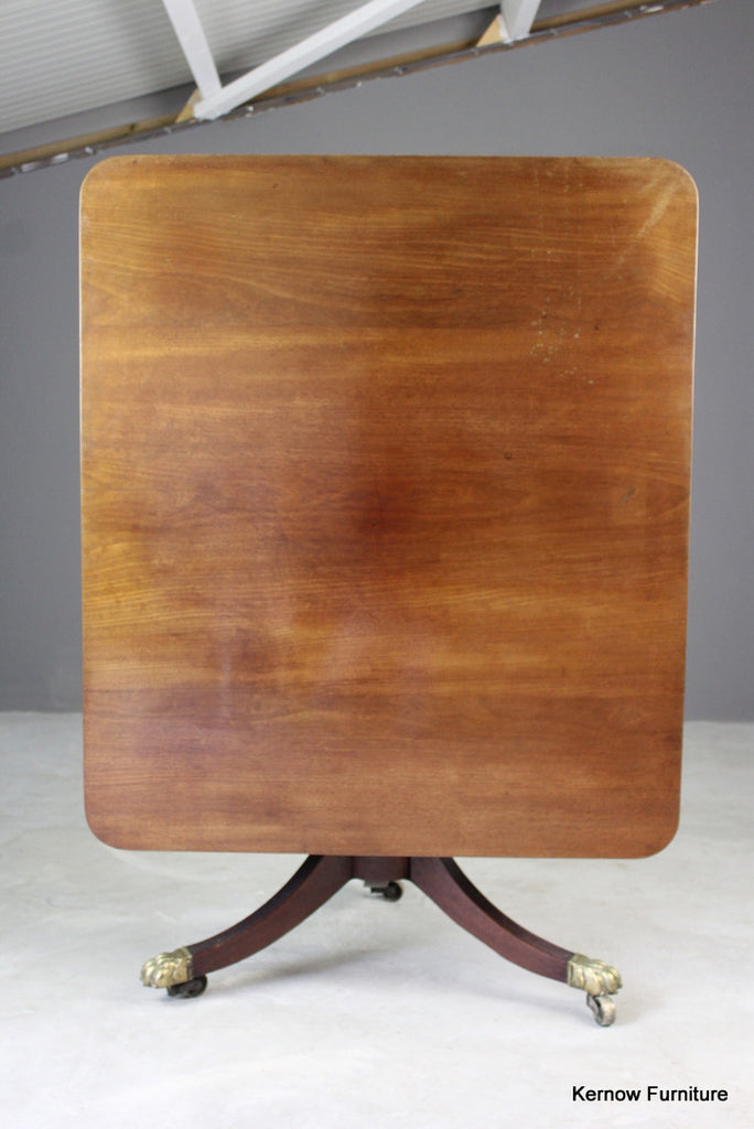 Antique Mahogany Tilt Top Breakfast Table - Kernow Furniture