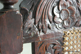Antique Carved Oak Open Arm Chair - vintage retro and antique furniture
