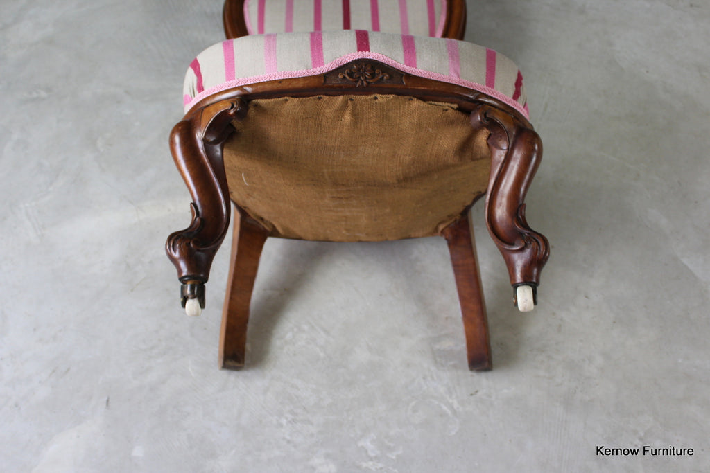 Victorian Upholstered Salon Chair - Kernow Furniture