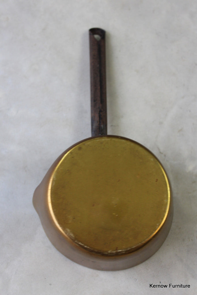 Victorian Brass Saucepan - Kernow Furniture