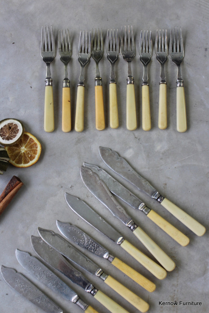 Vintage Fish Knives & Forks