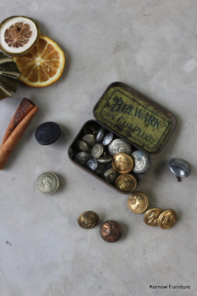 Vintage Tin of Assorted Railway Buttons