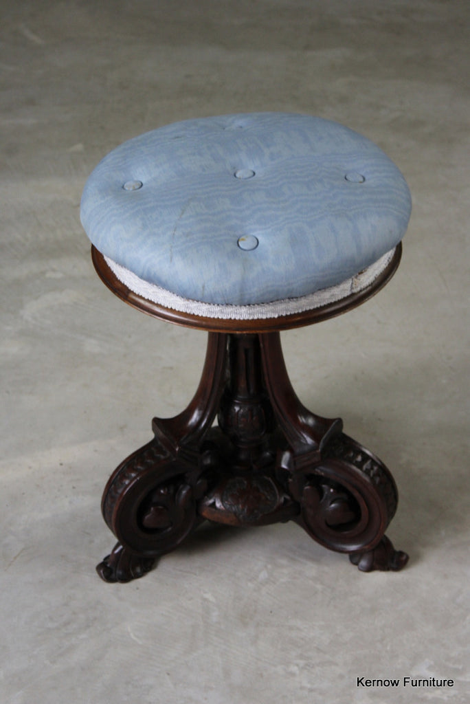 Antique Victorian Music Stool - vintage retro and antique furniture