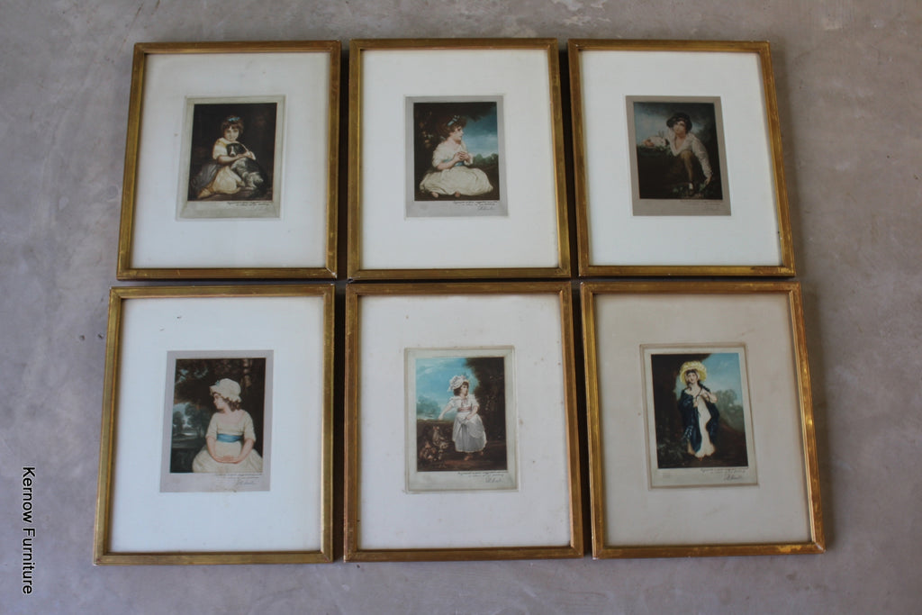 Set 6 Classical Prints - E.M Hester - Kernow Furniture