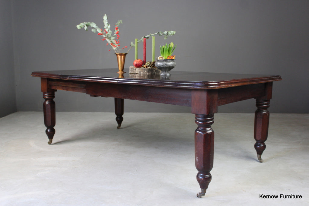 Antique Extending Dining Table - vintage retro and antique furniture
