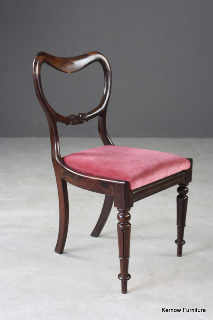 Single Antique Rosewood Dining Chair - Kernow Furniture