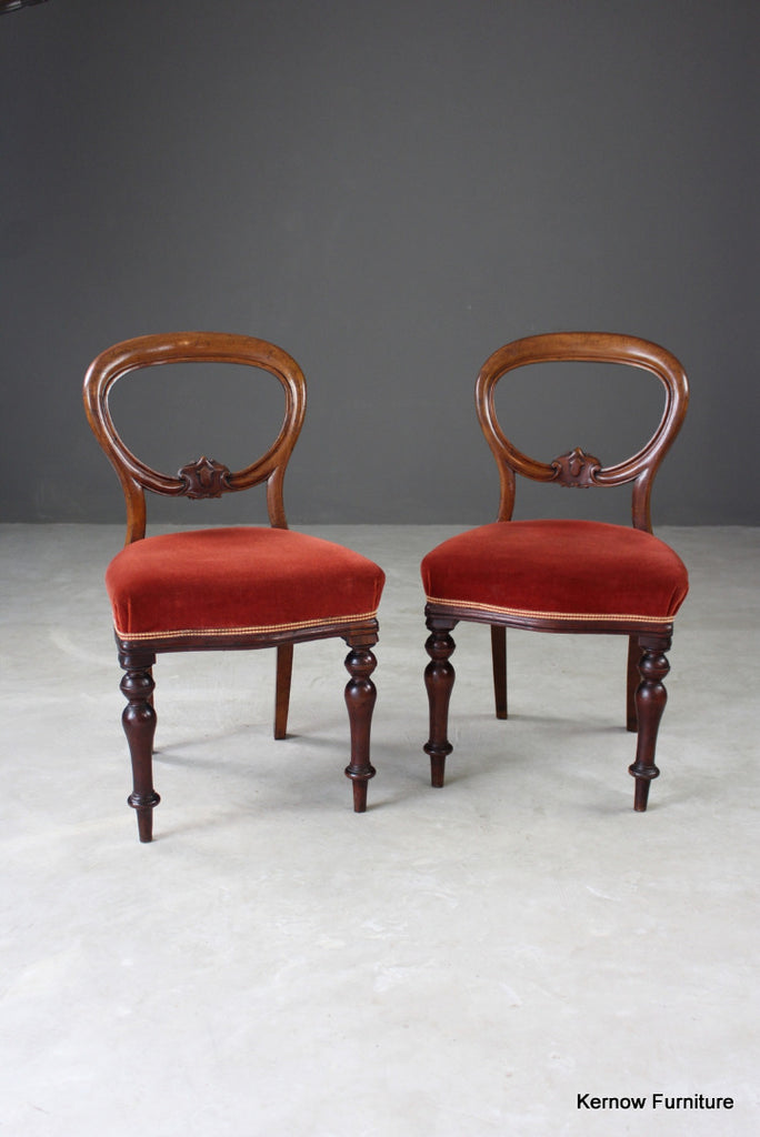 Pair Antique Dining Chairs - Kernow Furniture