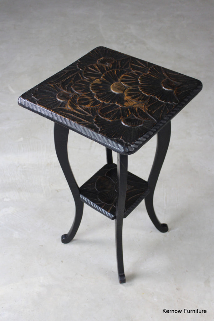 Early 20th Century 2 Tier Side Table - Kernow Furniture