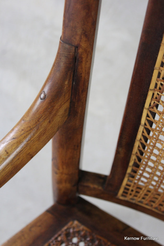 Elm & Beech Cane Carver Chair - Kernow Furniture