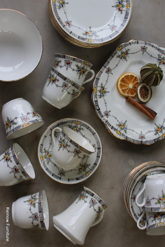 Vintage Art Deco China Tea Set - Kernow Furniture
