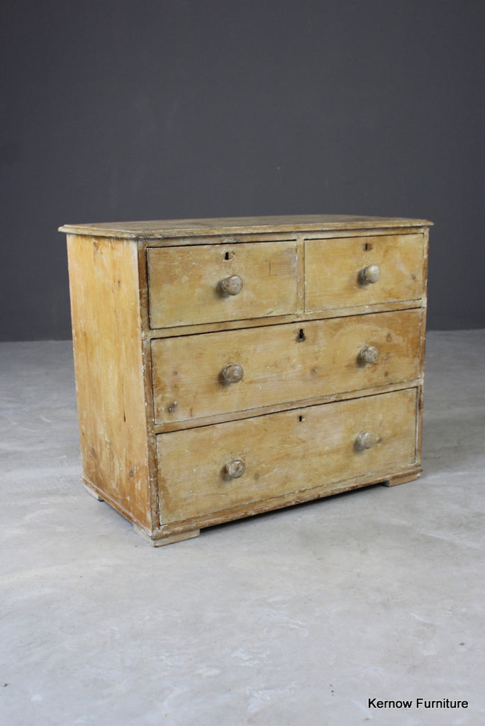 Antique Pine Chest of Drawers - vintage retro and antique furniture