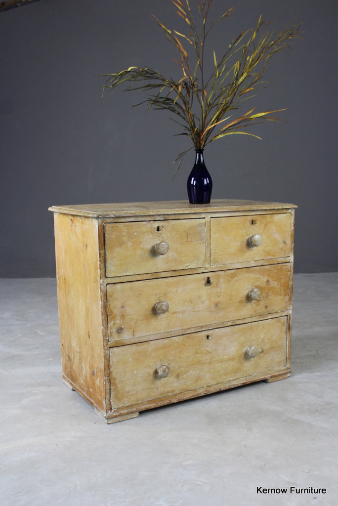 Antique Pine Chest of Drawers - Kernow Furniture