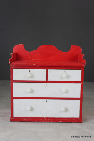 Painted Pine Chest with Gallery Back