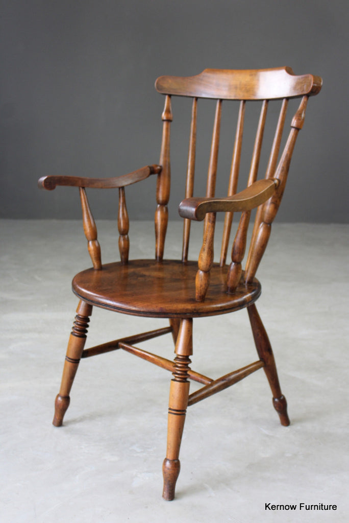 Beech & Elm Carver Chair - vintage retro and antique furniture
