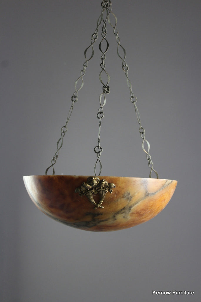 French Alabaster Ceiling Chandelier - Kernow Furniture
