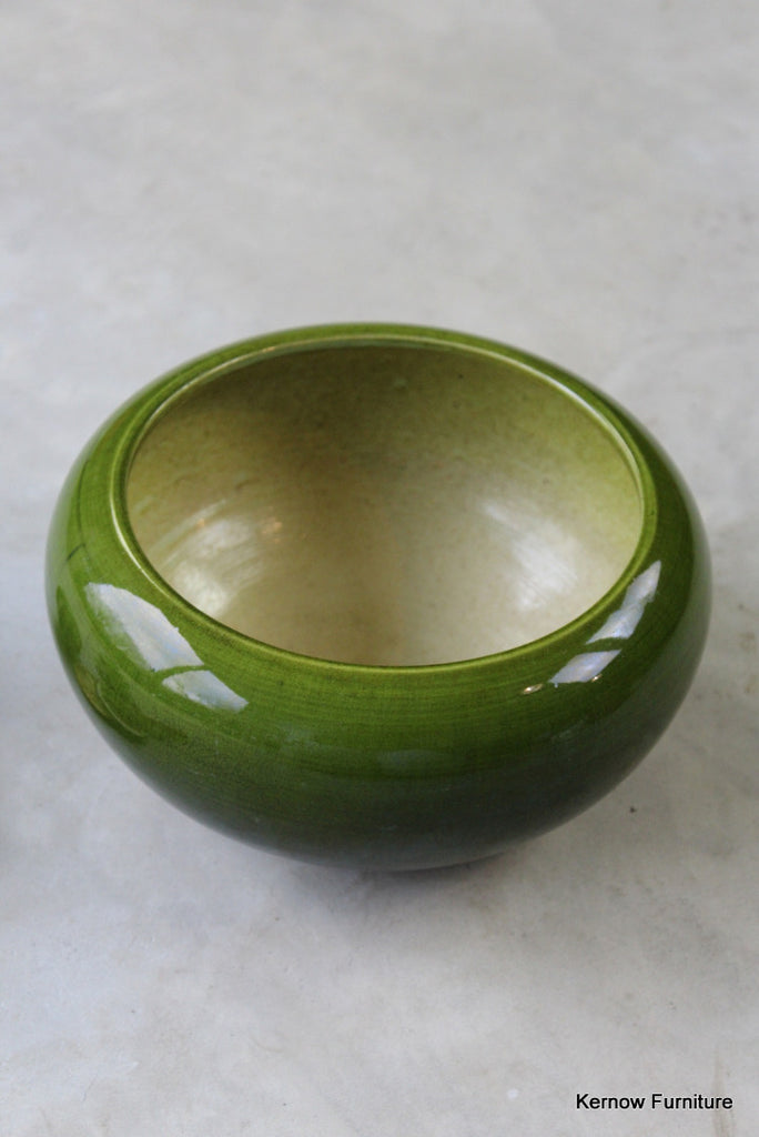 Bretby Green Art Pottery Bowl - Kernow Furniture