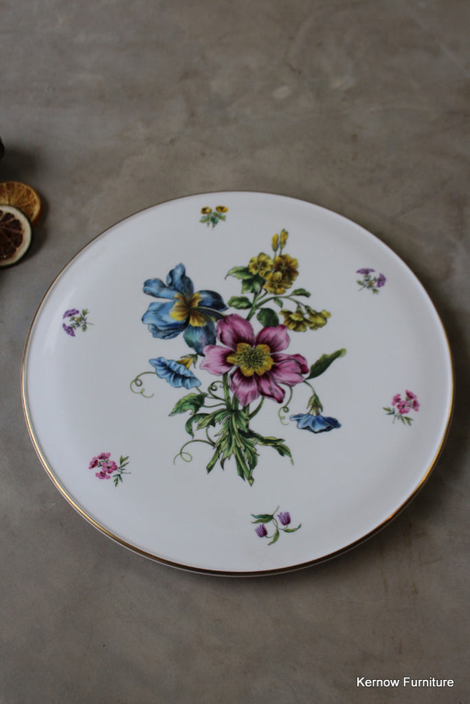 Royal Worcester Gloucester Flowers Gateau Plate