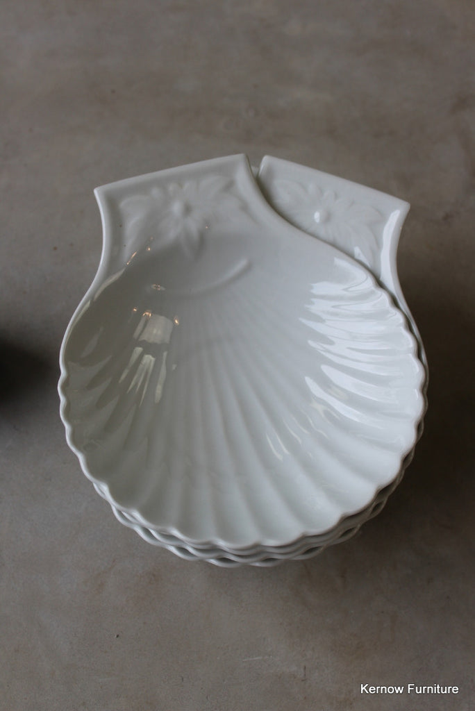 Apilco France Scallop Dishes x 4 - Kernow Furniture