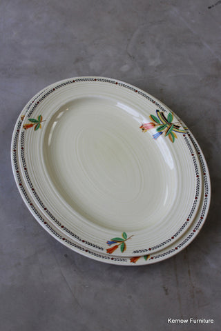 Crown Ducal Oval Plates